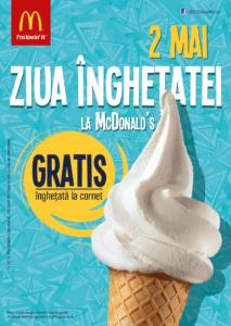 Ziua Inghetatei la McDonald's, cel mai asteptat eveniment al inceputului de vara
